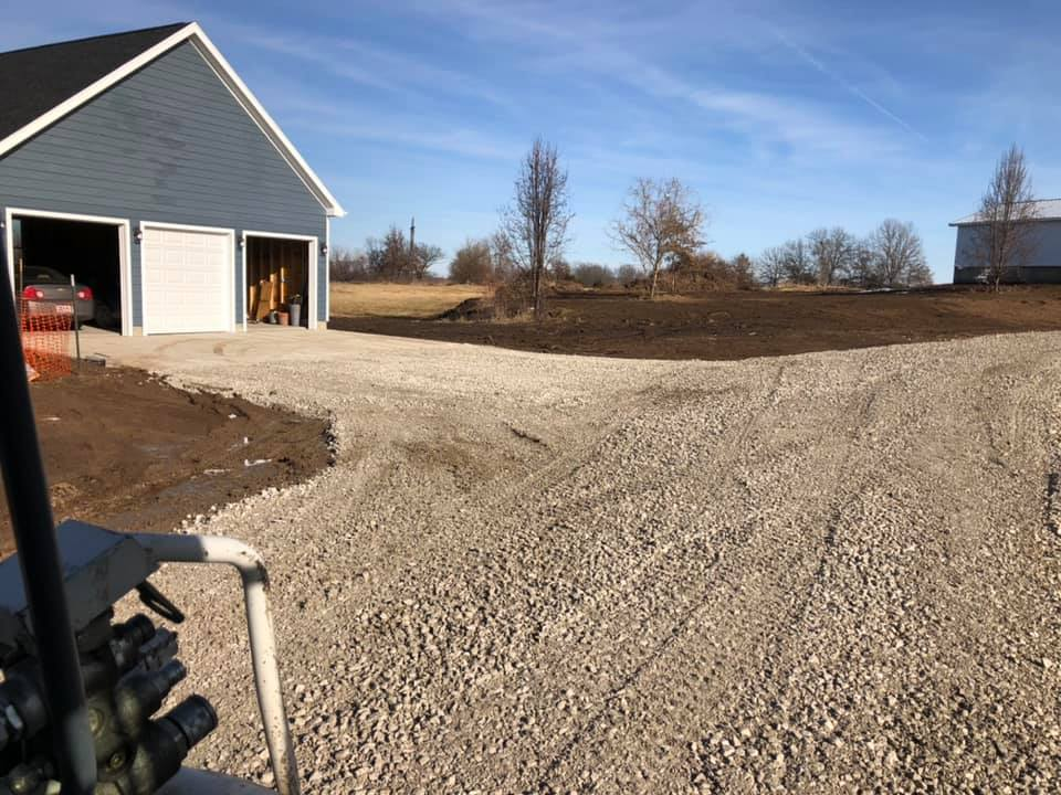 Rob's Trucking residential driveway grading